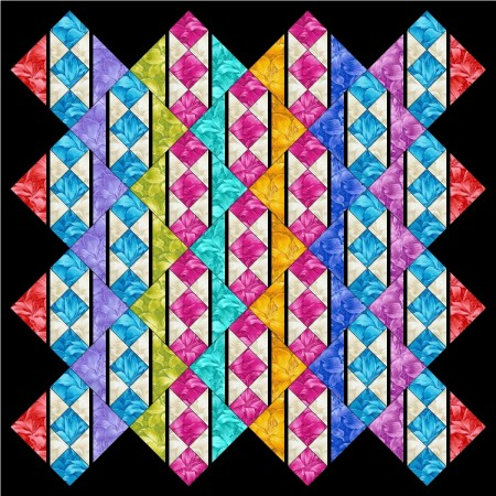 Rainbow Lily Quilt